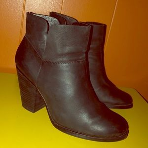 Vince Camuto Black Nubuck Leather Ankle Boots
